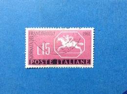 1961 ITALIA GIORNATA DEL FRANCOBOLLO USATO ITALY STAMP USED - 6. 1946-.. Repubblica