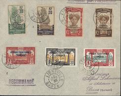 YT 92 95 97 98 103 105 106 Gabon Surchargés AEF Recommandé Vignette Libreville CAD Libreville Gabon 29 Sept 30 Pr Bern - A.E.F. (1936-1958)