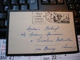 Timbre KOUFRA-STRASBOURG GENERAL LECLERC Sur Partie Enveloppe  Lincheux Hallivillers  Hornoy-le-Bourg. 1948 - France