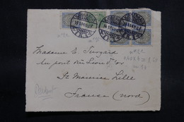 DANEMARK - Devant D'enveloppe De Copenhague Pour La France En 1904, Affranchissement Plaisant - L 54675 - Lettere