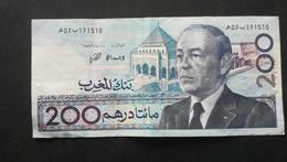 Billet Du MAROC 200 Dirhams 1987 - N°171510 - Marokko