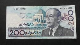 Billet Du MAROC 200 Dirhams 1987 - N°149737 - Marokko