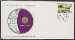 0164 - Numiscover / Enveloppe Numismatique - LESOTHO - 1 Sente 1979 - Lesotho
