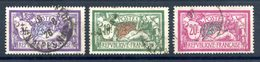 France N°206 à 208 (Merson) Série Oblitérée - Cote 65€ - (F922) - 1900-27 Merson