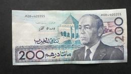 Billet Du MAROC 200 Dirhams 1987 - N°620355 - Marokko