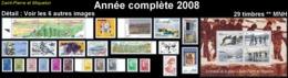 ST-PIERRE & MIQUELON  - Année Complète 2008 + AVION - Yv. 882 à 910 Dont BF + PA 87 ** 29 Tp Faciale 27,78€ Réf.SPM11767 - St.Pierre Et Miquelon