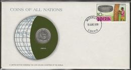0165 - Numiscover / Enveloppe Numismatique - LIBERIA - 25 Cents 1976 - Liberia