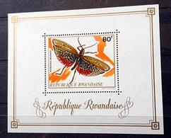 RWANDA - 10 Timbres Neufs - Insectes - 1973 - Y&T N° 501-510 + BF 27 - Ruanda