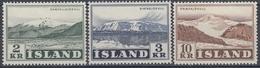+Iceland 1957. Glaciers. Michel 316-18. MNH(**) - 1944-... Republic
