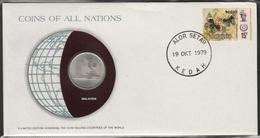 0167 - Numiscover / Enveloppe Numismatique - MALAYSIE - 50 Sen 1977 - Malaysia