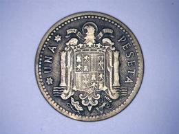 1947 - Espagne - Spain - UNA PESETA, ETOILE 54 - [ 4] 1939-1947 : Gobierno Nacionalista
