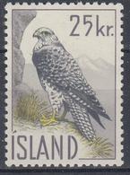 +Iceland 1960. Bird. Falcon. Michel 339. MNH(**). - 1944-... Republic