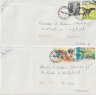 Congo Lot De 2 Lettres 1993 Pour La France - Gebraucht