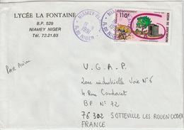 Niger Lettre 1991 Pour La France - Madagaskar (1960-...)