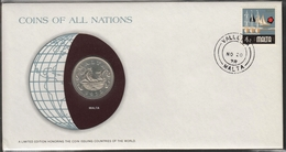 0169 - Numiscover / Enveloppe Numismatique - MALTE - 10 Cents 1972 - Malta
