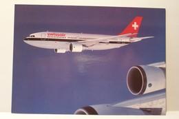 AIRBUS  A - 310-221 - SWISSAIR  - AVION    - ( Pas De Reflet Sur L'original ) - 1946-....: Era Moderna