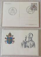 "Cartolina Postale Giovanni Paolo II 22/06/1981 ""Die Emissionis"", Varietà Senza Mano (R) - Postal Stationeries"
