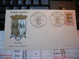 Enveloppe Premier Jour. Repoblika Malagasy Madagascar. ANTALAHA . 1965 - Madagascar (1960-...)