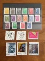 ADHESIFS DE FEUILLE - Année 2008 Complète : Marianne, Sorbier, Garouste, Daumier, Etc. (22 Timbres PRO) - Neufs ** - Adhésifs (autocollants)