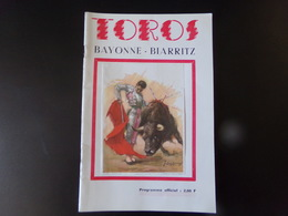 "Programme "" Toros "" Bayonne - Biarritz 1971 ( Photos De Toutes Les Pages ) - Programmi"