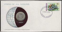0173 - Numiscover / Enveloppe Numismatique - NICARAGUA - 1 Cordoba 1972 - Nicaragua