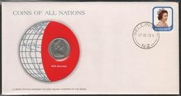 0175 - Numiscover / Enveloppe Numismatique - NOUVELLE ZELANDE - 10 Cents 1978 - New Zealand