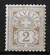 1882 - 1889 ZIFFERMUSTER → Faserpapier Kontrollzeichen Form A     ►SBK-58A** / CHF 120.-◄ - 1882-1906 Wappen, Stehende Helvetia & UPU