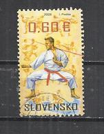SLOVAKIA 2009 - MARTIAL ARTS -  POSTALLY USED OBLITERE GESTEMPELT USADO - Slovaquie