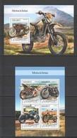 ST2204 2016 MOZAMBIQUE MOCAMBIQUE TRANSPORT MOTORCYCLES 1KB+1BL MNH - Motorfietsen