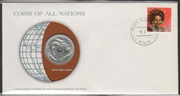 0176 - Numiscover / Enveloppe Numismatique - PAPOUASIE NOUVELLE GUINEE - 1 Kina 1979 - Papua New Guinea