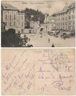 CHIAVARI - GENOVA - PIAZZA XX SETTEMBRE - TIMBRO COMANDO MILITARE -37026- - Genova