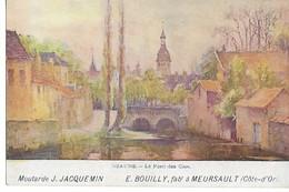 Côte D'Or  Cpa Pub Moutarde J JACQUEMIN E. BOUILLY Fabricant MEURSAULT Vue BEAUNE....G - Beaune