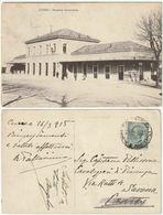 CUNEO - STAZIONE FERROVIARIA - VIAGG. 1915 -38527- - Cuneo