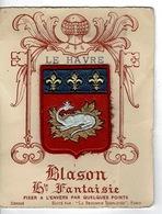 BLASON - LE HAVRE Sur Support Cartonné - Patches