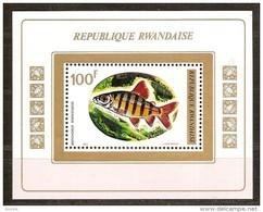 Rwanda Ruanda 1973 OCBn° Bloc 30 *** MNH Cote 5,50 Euro Faune Poissons Vissen Fish - 1970-79: Neufs