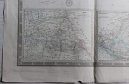Rare Très Grande Carte Du Mexique Et Texas 1863 Alexandre Vuillemin Paris H. Brué Société De Géographie Logerot éditeur - Geographical Maps