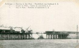 BELGIUM -  Zeebrugge - World War I - Remains Of Submarine C3 - Overblijfsels Van Dukboat C3 - Guerre 1914-18
