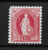1899 - 1902 STEHENDE HELVETIA  →  (13 Zähne Senkrecht) Kontrollzeichen Form B  ►SBK-75D* / CHF 125.-◄ - 1882-1906 Armoiries, Helvetia Debout & UPU