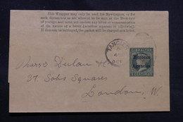 MAROC - Entier Postal De Gibraltar Type Victoria Surchargé De Tanger Pour Londres  - L 54680 - Morocco Agencies / Tangier (...-1958)
