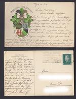 Ansichtskarte Corps Saxonia Charlottenburg Stempel Benutzt Die Kraftpost Sicher  - Ansichtskarten
