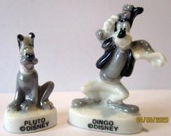 Fèves Brillantes Nacrées - Pluto Et Dingo De Disney - Disney