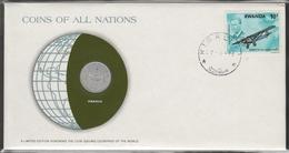 0182 - Numiscover / Enveloppe Numismatique - RWANDA - 1 Franc 1977 - Rwanda