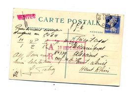 Carte Cachet Besançon Sur Semeuse Publicité Pichon - Marcophilie (Lettres)