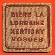 Sous Bock Très Ancien Coaster Bière La Lorraine à Xertigny Vosges - épaisseur 5mm - Beer Mats