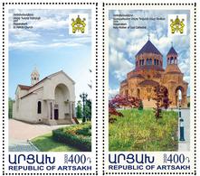Artsakh - Armenia - Nagorno Karabakh 2020 Mi 211-212 Newly Built Churches St. Hakob Holy Mother Of God Cathedral MNH** - Armenia
