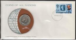 0183 - Numiscover / Enveloppe Numismatique - SAINT KITTS / CARAIBES ORIENTALES - 50 Cents 1965 - Territoires Britanniques Des Caraïbes
