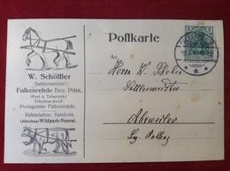 AK Firmenpostkarte Falkenrehde Bez. Pdm. W. Schöttler Sattlermeister 1912 Jüterbog Wildpark Nauen - Ketzin