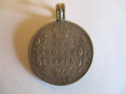 British India 1 Rupee 1905 + Jewelry Loop - Inde