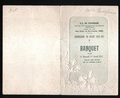 Comission De Rugby 1910/1911, Banquet Le Samedi 1er Avril 1911 Salle Des Fetes D'Issy, Servi Par La Maison Fantin - Menus