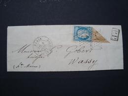 AFFRANCHISSEMENT SEPTEMBRE 1871 AVEC DEMI 10C PROBABLEMENT FAUX - Marcophilie (Lettres)